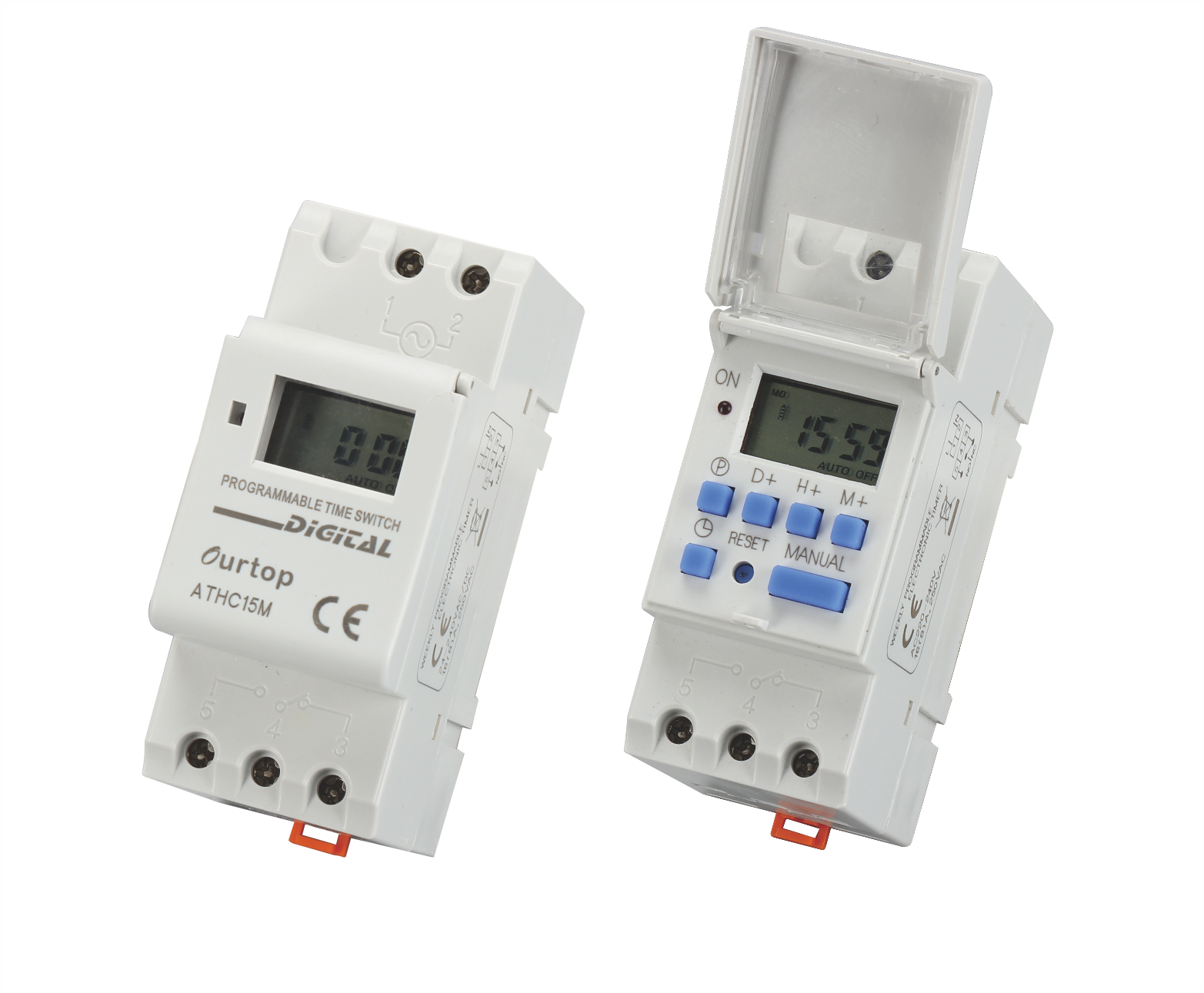 ATHC15M Digital Programmable Time Switch Multi-Voltage