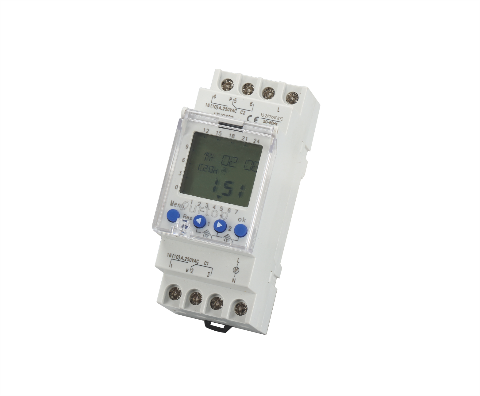 ATHC622M 2 Channel Digital Programmable Time Switch Multi-Voltage